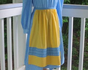 Swedish Apron for Girls, National Swedish Costume Apron