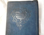 RESERVED///////////Antique Book Poetry 1917 Leather Bound Ella Wheeler Wilcox London Fantastic Calligraphy Re-purpose