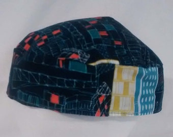 City and Atlas Reversible Kippah Yarmulke Original Buchari Style LARGE - Clearance