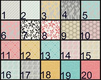 Crib Blanket, Crib Bedding, Crib Quilt, Baby Bedding, Block Baby Quilt, Square Baby Quilt, geometric, circles, square, triangle, herringbone