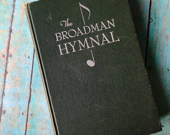 Broadman Hymnal Praise Book, Vintage Song Book Hymns, Church Hymnal, Bible Journaling, Art Journaling