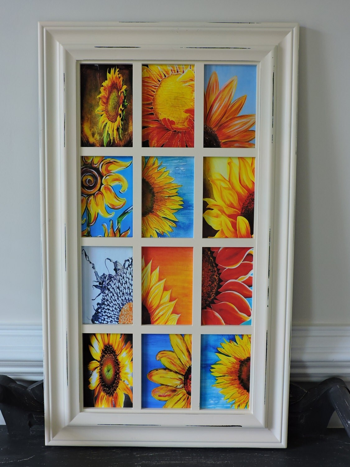 home decor decoupage picture frame wall hanging sunflower. Black Bedroom Furniture Sets. Home Design Ideas