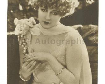 Grethe Rutzt-nissen - Classic Film Actress - Vintage Real Photo Postcard (rppc)