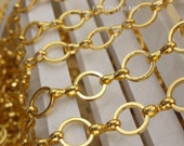 ON Sale-10 feet  fantastic circle chain gold plating over RAW BRASS--F1667
