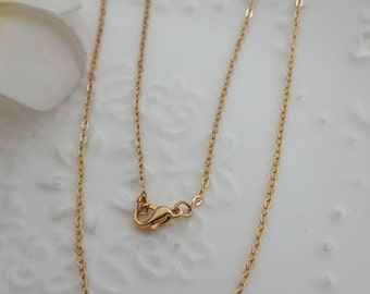 Wholesale finished chains-100 pcs gold  basic dainty chains-with clasps -T0898