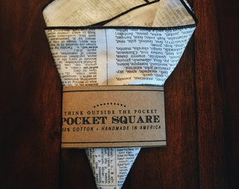 Pocket Square || Newsprint