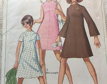 Vintage 1968 Junior Dress Pattern