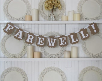 FAREWELL! Banner, Farewell Sign, LDS Missionary, Military Send Off, Retirement, Farewell Party