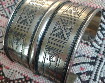 Tuareg Double Bracelet/Cuff with Tifinagh signs inside