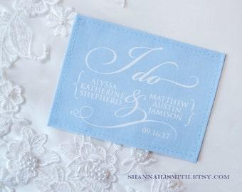 Something Blue  • I Do Wedding Dress Label • Personalized • Unique Bridal Gift