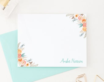 Floral Stationary, Floral Note Cards, Personalized Stationery, Custom Stationery, Stationary Personalized, Stationary Cards, PS044