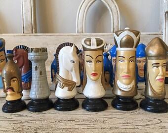Ceramic chess set etsy - Ceramic chess sets for sale ...