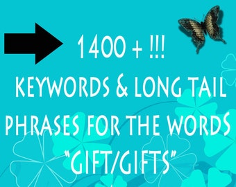 Etsy Shop Help Keywords & Long Tail Phrases for Gifts/Gift 1400+  - Jewelry Tags  - SEO Keyword - SEO Titles - Improve SEO - Listing Help,