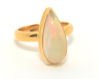 COA:NM Opal Sterling Silver Ring. Ethiopian Opal.