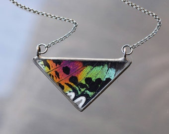 Rainbow Triangle Necklace - Sunset Moth