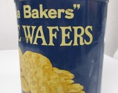 Vintage Uneeda Biscuit Tin Uneeda Bakers Cheese Wafers National Biscuit Company NBC Metal Cannister Tins YourFineHouse SHIPSWORLDWIDE