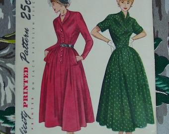 Vintage Pattern c.1949 Simplicity No.2959 Dress, Size 15 Bust 33