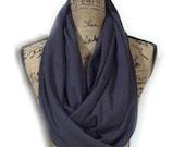 Heather grey travel scarves hidden pocket, solid knits, heather grey colored loop scarves with hidden pocket infinity scarves