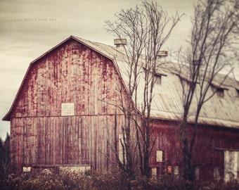 Red Barn Photography, Rustic Home Decor, Red Country Decor, Barn Photograph, Red Barn Print or Canvas Wrap, Farmhouse Art, Barn Print.