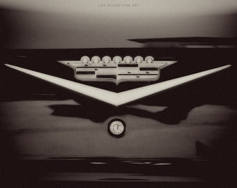 Black and White Photography, Cadillac Pictures, Masculine Print or Canvas Art, Art for Men, Manly, Mad Men, Black, Vintage Cadillac.