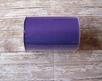 Purple Tulle | 100 Yard Roll, 6 Inch Wide Purple Nylon Tulle | Tutu Tulle