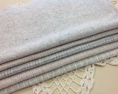 White and Gray Textures. Wool Fabric for Rug Hooking and Applique, 5 pieces, Select a Size, W105