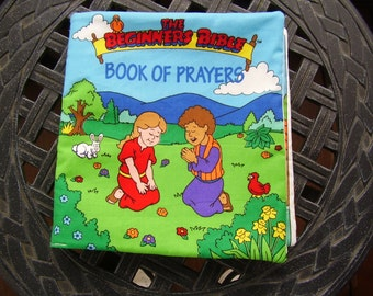 Beginners Bible Book of Prayers Quiet Soft Cloth Baby Toddler Story Book Handmade Ready to Read