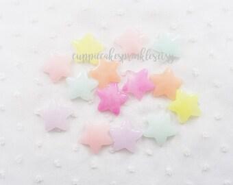 6pcs - Candy Jelly Star Mix Flatback Decoden Cabochon (24mm) STR10010