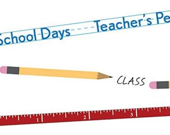 Roll-On Transfers Around the Block School Themed Recess Ruler Field Trip new