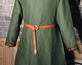 Historical Viking, Medieval linen tunic with Nordic trim - all sizes - ships today!