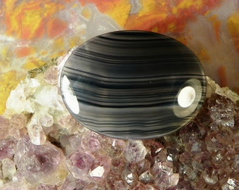 Montana Agate Cabochon (ARH025) This cabochon measures 40mm x 30mm x 4mm; weighs 8.7 grams