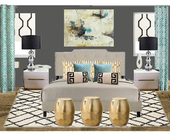 Bedroom Decor , Girls Bedroom Decor, Bedroom Wall Art, Bedroom Furniture, Custom, Interior Design, E-Design, Kids Bedroom Decor, Bedroom