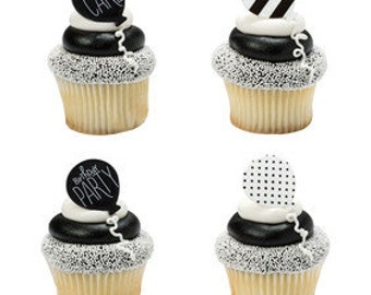 Birthday Cupcake Rings/ I Want Cake Rings/ Cupcake Toppers