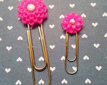 Pink Dahlia paperclip