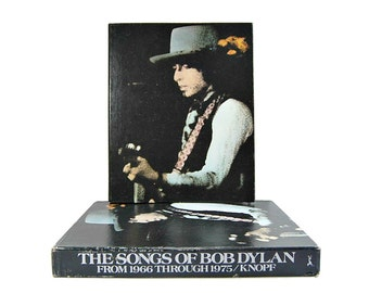 1976 Songs of Bob Dylan Spiral Hardcover Boxed Stated First Edition Vintage Piano Guitar Sheet Music Just Like A Woman Forever Young