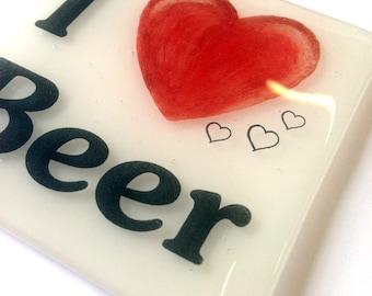 I 'Heart' Beer Coaster