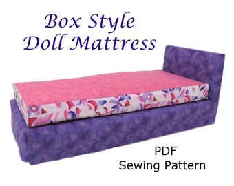 Doll Bed Mattress PDF pattern Fits any size doll bed Easy Sew Barbie American Girl