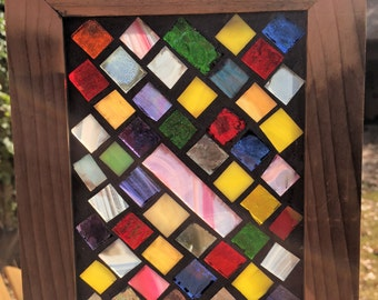 Contemporary Stained Glass Mosaic Panel - Abstract (PLG072)