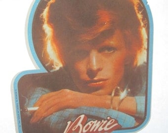 Vintage DAVID BOWIE Iron On Transfer for T-Shirt - Original Not Reproduction