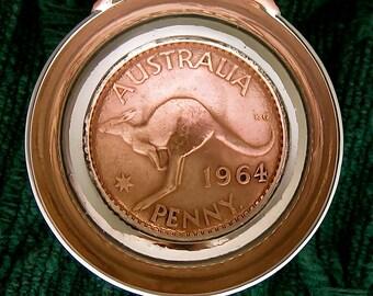 Australia Kangaroo Coin Spoon Coffee Scoop or Tablespoon Measure