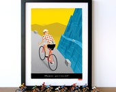PERSONALISED Bike Art, Customisable Jersey, Name, Race Number, Hair, Eye and Bike Colour - Breakaway