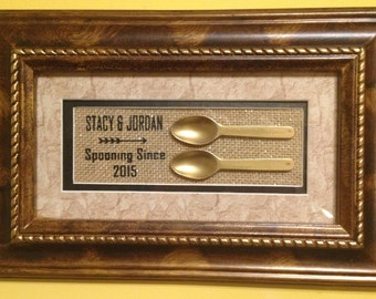 Spooning Since............Picture Frame