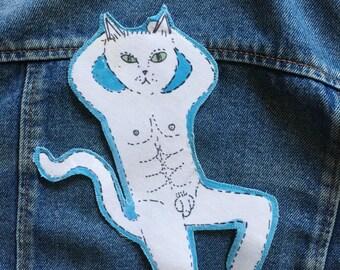 Sexy Man Cat #2 iron on patch
