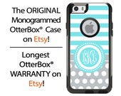 iPhone OtterBox Commuter Case for iPhone 6/6s, 6 Plus/6s Plus, 5/5s, 5c, 4/4s, Galaxy S6 S5 S4 Note 5 4 Monogrammed Stripes Polka Dots Case