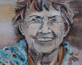 """Print of original painting- """"Grandma"""" -in Oil"""