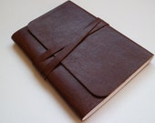 Travel Journal Leather Journal Leather Book Leather Notebook. Chestnut Brown with a Lovely Grain.