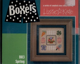 Lizzie Kate: Spring - a Boxers Cross Stitch Kit