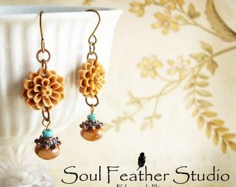 203•TOFFEE Colored Earrings•Earrings•Boho Earrings•Dangle Earrings