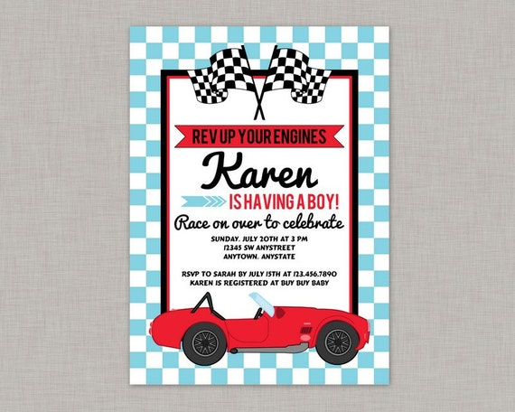 race car baby shower invitation race car baby shower boy baby shower