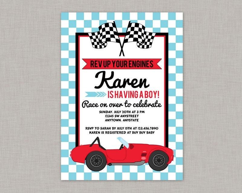 race car baby shower invitation race car baby shower boy